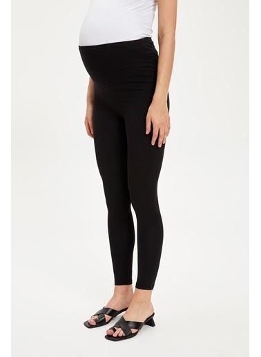 DeFacto Slim Fit Basic Hamile Pantolonu Siyah